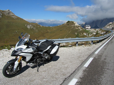 1/4 - Photo by Dutch Multistrada 1200 owner 'Duccer1200' (aka Frank) from   in the Netherlands Italy, Dolomites, Passo di Valparola (September 2010)
