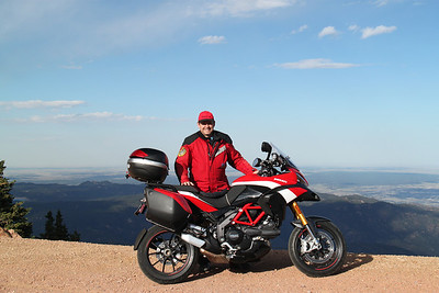 4/6 - Photo by Multistrada 1200 PP owner and ducati.ms forum member 'Duc PP' (aka Greg) - Near the top of Pikes Peak, notice Denver waaaay  behind..