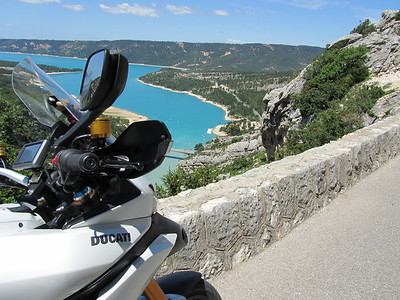 4/4 - Photo by Dutch Multistrada 1200 owner 'Duccer1200' (aka Frank) from   in the Netherlands France, Lac de Sainte Croix (June 2011)