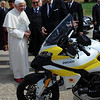Sept2010 - The gift of two Ducati Multistrada 1200 motorcycles for the Corps of Gendarmerie of Vatican City were presented to Pope Bendictus XVI to be used as part of the Pope's official security motorcade