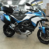 Custon blue variation on Multistrada 1200 Pikes Peak colour scheme.