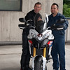 "//www.motoblog.it - 07May2010 ""<i>today we received from Team Motoart Ticino Ducati with which the great Troy Bayliss began their tour of Switzerland. The Ducati Multistrada 1200 Replica Bayliss delivered to the world champion has been specifically designed by extremedesigns with the colors of the pilot.</i>"