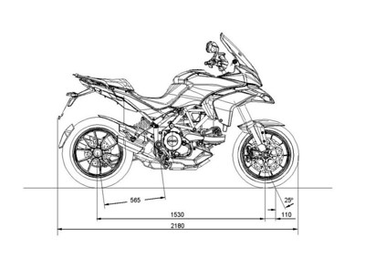 Ducati Multistrada 1200 - dimensions  Multistrada 1200 / 1200S 'How to & FAQs'
