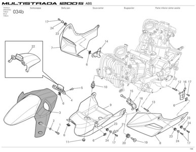1/2: Ducati Multistrada 1200 - front mudguard and belly pan parts  Multistrada 1200 / 1200S 'How to & FAQs'