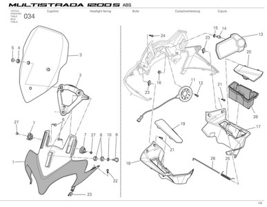 Ducati Multistrada 1200 - nose, screen and cockpit parts  Multistrada 1200 / 1200S 'How to & FAQs'