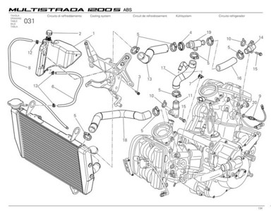 Multistrada 1200 cooling system - water pump, ratiator, expansion tank, thermostat, temperature sensor etc  Multistrada 1200 / 1200S 'How to & FAQs'