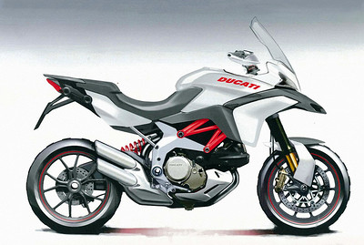 Ducati Multistrada 1200 - pre production artwork  Multistrada 1200 / 1200S 'How to & FAQs'