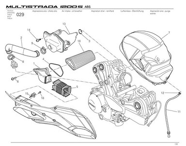 Ducati Multistrada 1200 - air filter location and access  Multistrada 1200 / 1200S 'How to & FAQs'