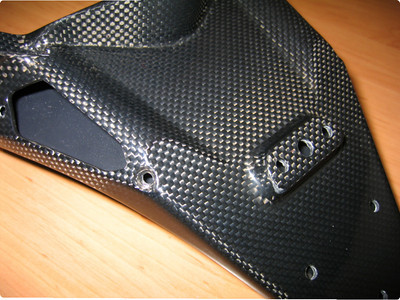 Multistrada 1200 Short carbon fiber tail guard / rear fender  Photo by Piero1100 - http://www.diva-di-bologna.de / http://multistrada.eu