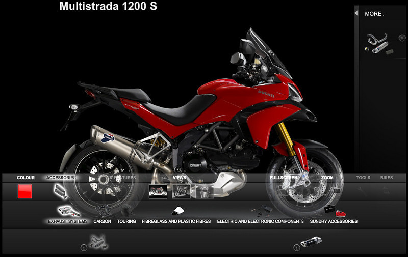 "<b><a target=""_blank"" href=""http://www.motorcycleinfo.co.uk/index.cfm?fa=contentGeneric.zvfiihryhlqbrzht&pageId=1235552""> Information and pricing for the official (DP) Ducati Multistrada accessories range</a></b>"