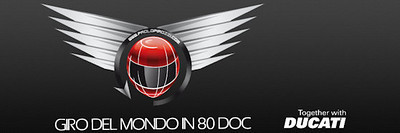Giro Del Mondo In 80 DOC logo  Article here:  http://www.motorcycleinfo.co.uk/index.cfm?fa=contentGeneric.svujwmxokbhbwyoc&pageId=2314121