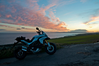 Photos from Ducati.ms forum member 'miloVanMultistrada' (aka Miles) of his Multistrada 1200. Heading home on the A92