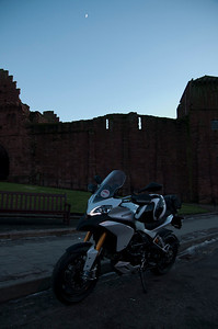 Photos from Ducati.ms forum member 'miloVanMultistrada' (aka Miles) of his Multistrada 1200. Arbroath Abbey