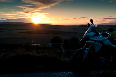 Photos from Ducati.ms forum member 'miloVanMultistrada' (aka Miles) of his Multistrada 1200. Sunset at Allardice