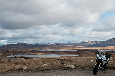 Photos from Ducati.ms forum member 'miloVanMultistrada' (aka Miles) of his Multistrada 1200.  A82 / Rannoch moor