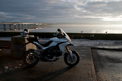Photos from Ducati.ms forum member 'miloVanMultistrada' (aka Miles) of his Multistrada 1200. Location:  Dundee, Tay Rail Bridge