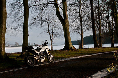 Photos from Ducati.ms forum member 'miloVanMultistrada' (aka Miles) of his Multistrada 1200. 2/6 - Location: near Glamis, Angus, Scotland
