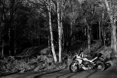 Photos from Ducati.ms forum member 'miloVanMultistrada' (aka Miles) of his Multistrada 1200. A93 to Banchory