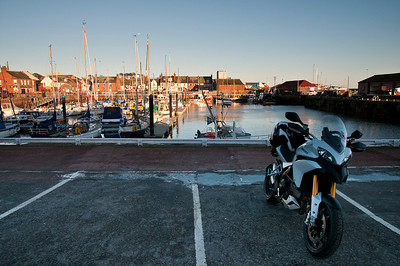 Photos from Ducati.ms forum member 'miloVanMultistrada' (aka Miles) of his Multistrada 1200. Arbroath Harbour