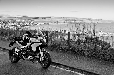 Photos from Ducati.ms forum member 'miloVanMultistrada' (aka Miles) of his Multistrada 1200. View of Stonehaven