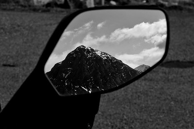 Photos from Ducati.ms forum member 'miloVanMultistrada' (aka Miles) of his Multistrada 1200.  Glencoe as seen in a MTS1200 mirror :D