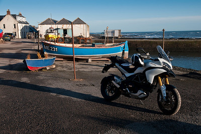 Photos from Ducati.ms forum member 'miloVanMultistrada' (aka Miles) of his Multistrada 1200. Johnshaven Harbour