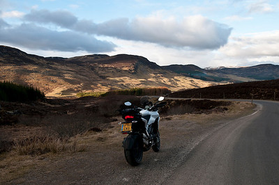 Photos from Ducati.ms forum member 'miloVanMultistrada' (aka Miles) of his Multistrada 1200.  A924 east of Pitlochry
