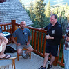 Karl, Mike, Unkn, and Randy on the deck at the main cabin.