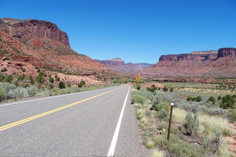 Highway 141 looking towards Gateway, CO