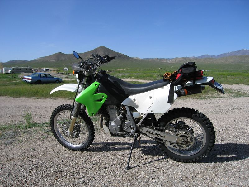 My Kawi, loaded and ready to go with new tires.
