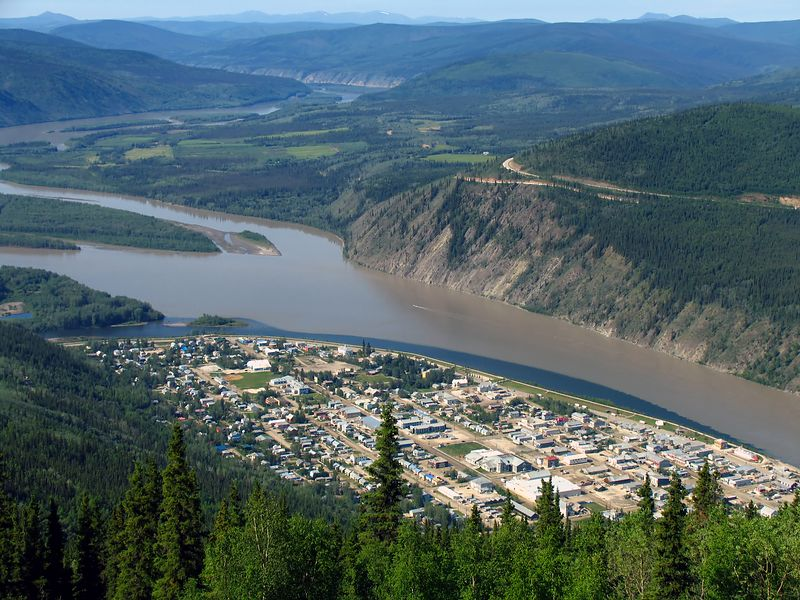 "Downtown Dawson City on the Yukon River, Canada. Taken from ""The Dome""."