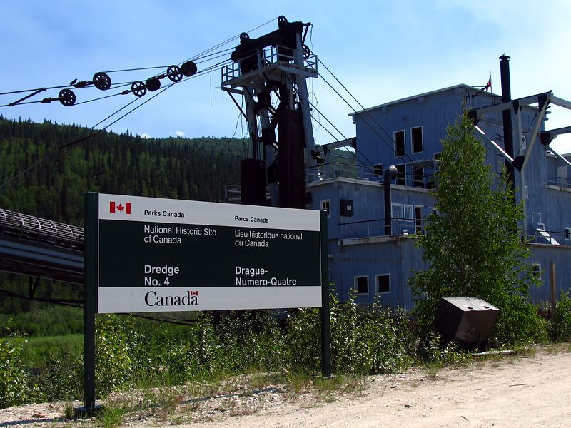 The famous Dredge #4, the largest in the Yukon.