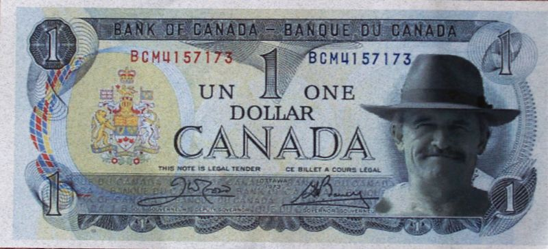 The new Canadian Currency. Funny thing was they wouldn't take it when I was filling up the KLR????