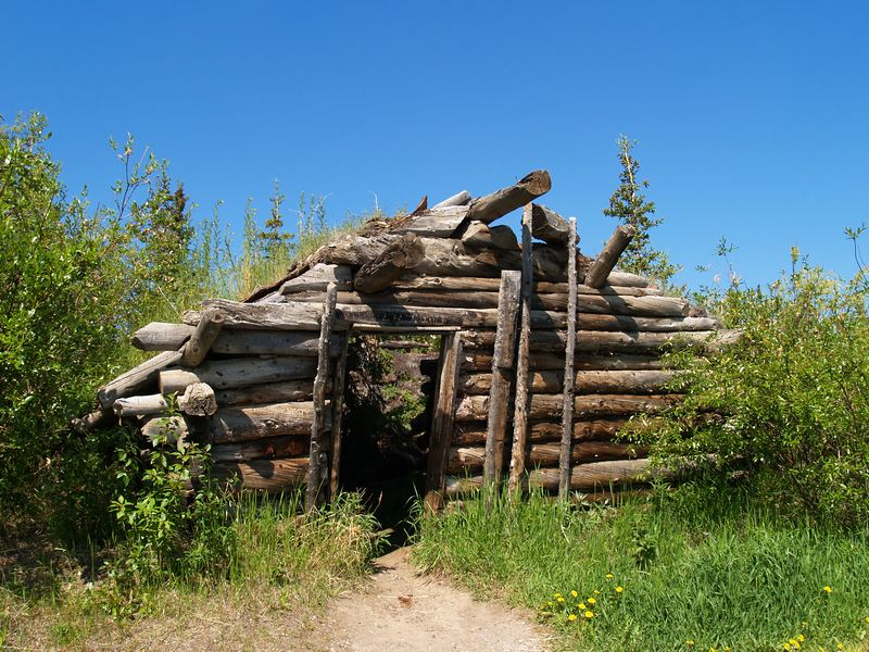 Sod House - Top of the World Highway