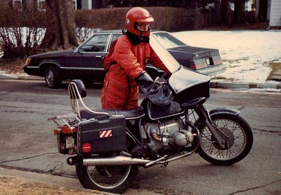 Winter riding, early 80s.