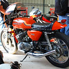 Kawasaki 500 Mach 3. Two stroke triple form the early 1970's. Fairing is not original.