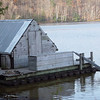 The Wanigan is a floating kitchen and bunk house that floats down the river with the loggers.