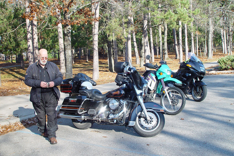 Jack led us on a real nice ride to Lumberman's Monument over some gorgeous Northern Michigan roads.
