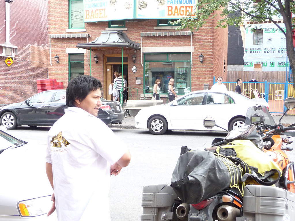 Chatted with one of the guys that makes the bagels in Montreal