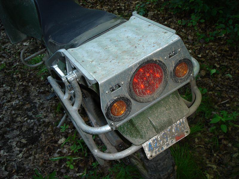The back of Ernies bike
