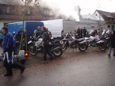 Samenkomst aan het vertrekpunt, Dennenhof te Brasschaat.