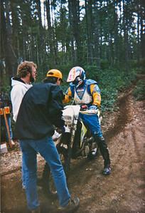 Finishing special test at Spark Plug Enduro - 1996