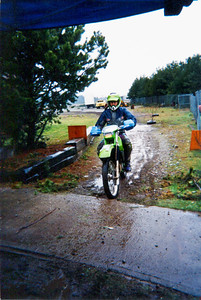 Todd Smith finishing a very wet and cold Shelton Valley endure.