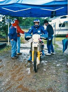 Steve Stafford finishing a wet, cold, Shelton Enduro