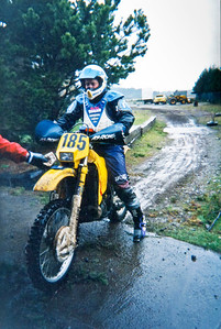 Finishing a very wet and cold Shelton Valley Enduro