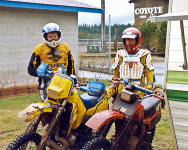 Mike Kmet and myself at the 1991 enduro at Shelton.