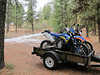 We haul over to the trails instead of burning knobby's on miles of pavement.