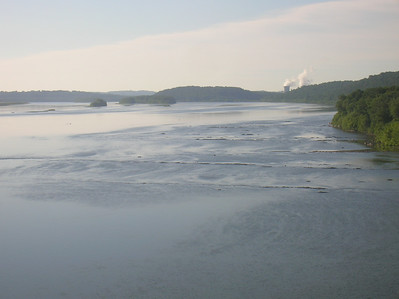 Three Mile Island from the PA Turnpike bridge over the Susquehanna River