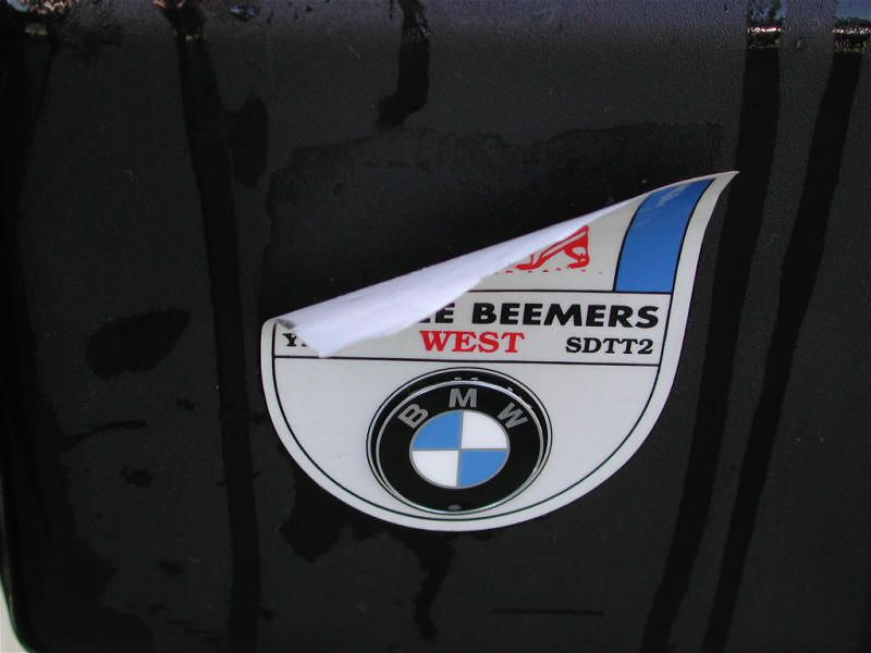 Yankee Beemers West sticker is a goner