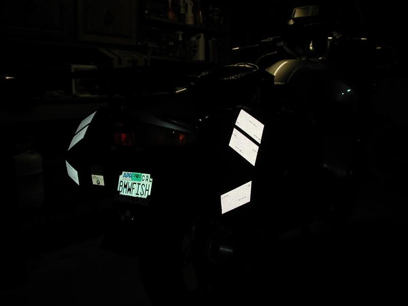 SOLAS Reflective Tape: 45 degrees to the right